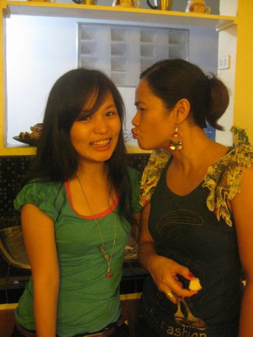 Me and tita. June 2011.  In their Bae kitchen.