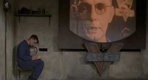 Orwell's Telescreen. It can see what you're doing. It's like t but ass backwards.