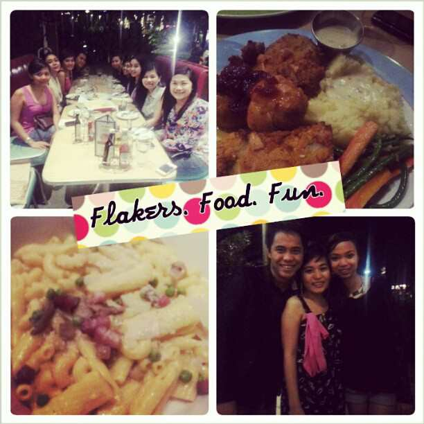 Food and Flaker friends whom I love despite all the flaking from both sides ;)